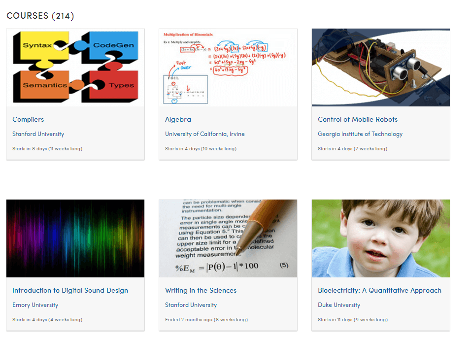 free online learning tool - coursera