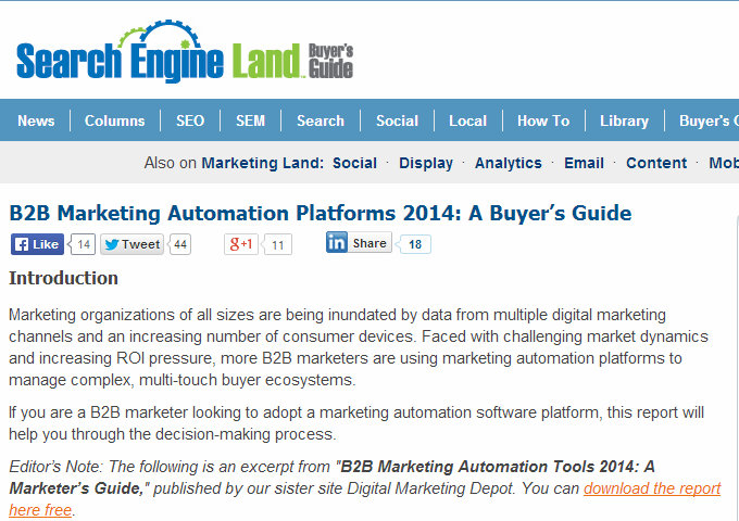 pros and cons of marketing automation and LOB software integration CRM buyers guide | Clarity