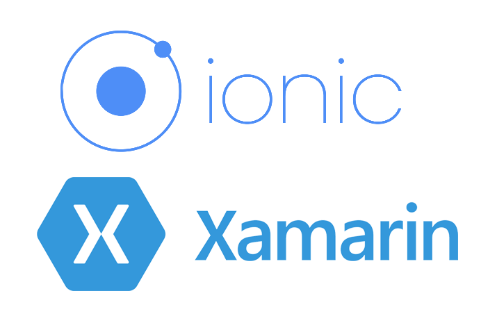 Ionic and Xamarin logos