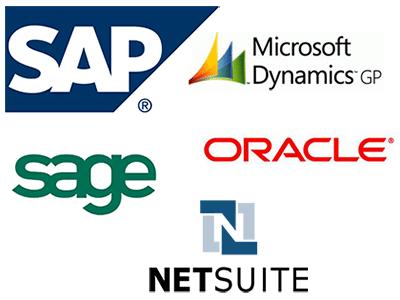 ERP Systems Enterprise Resource Management Netsuite Dynamics GP Oracle SAP Sage