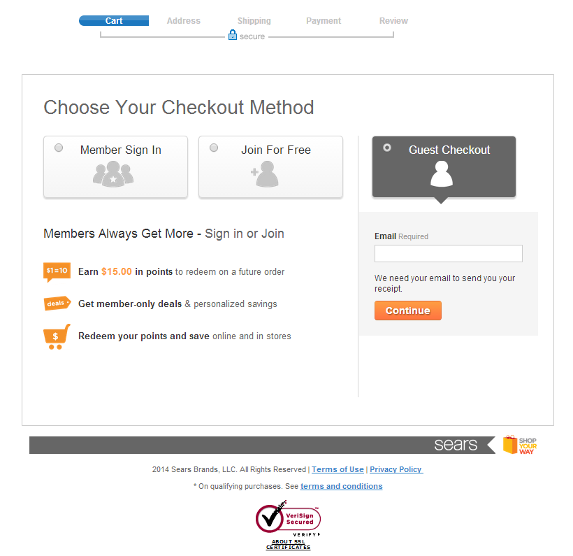 e-commerce checkout guideline examples for websites | Clarity