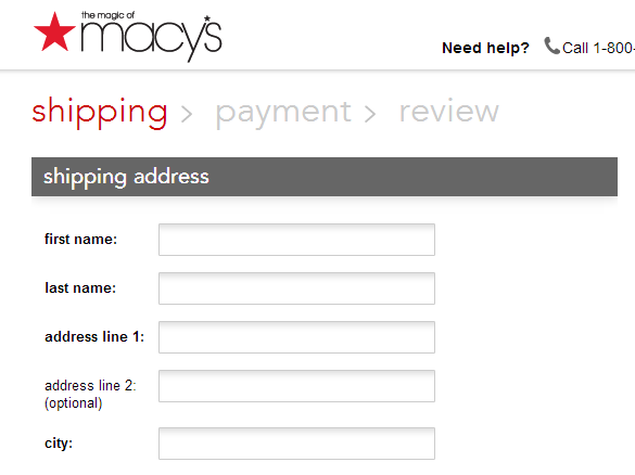 e-commerce checkout guideline examples for website development | Clarity