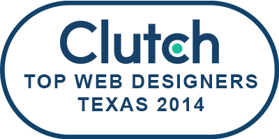 Clarity's Clutch award for web design