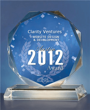 Clarity Ventures named Top Website design and development company by Austin City - Business Awards Program