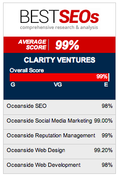 Clarity receives high scores across the board for their online marketing services
