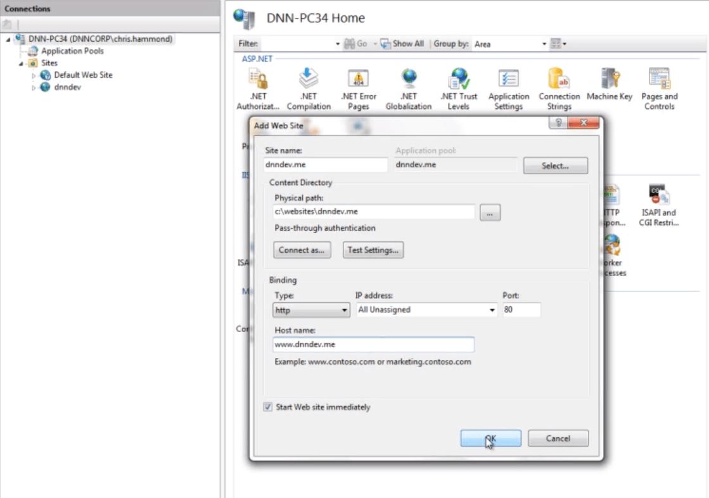 DotNetNuke Environment Configuration