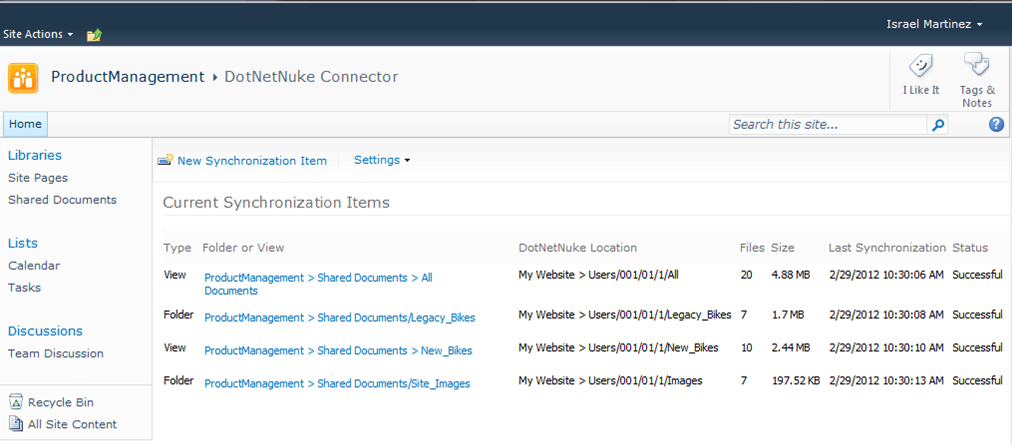 DotNetNuke Sharepoint Connector